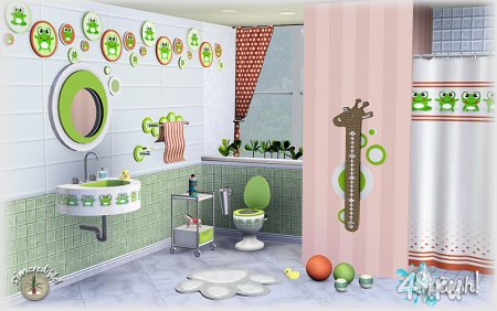 Ванная для детей Splash от Simcredible для Симс 3 в формате sims3pack