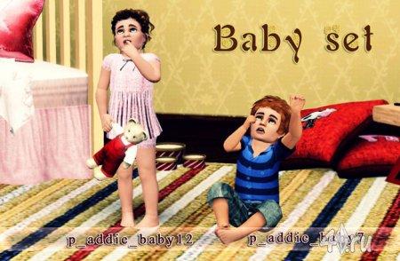 Сет поз  Babyset by MsAdrienne для Симс 3