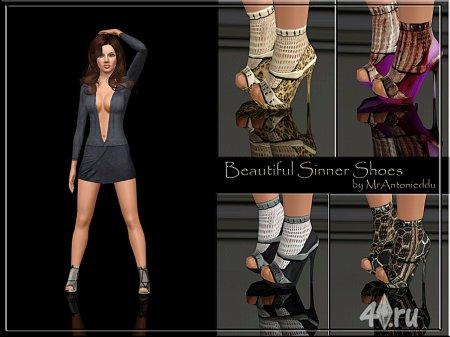 Гламурные туфли by MrAntonieddu для Симс 3 в формате sims3pack