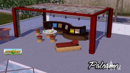 "Набор для патио ""Палермо"" от bobo для Симс 3 в формате sims3pack"