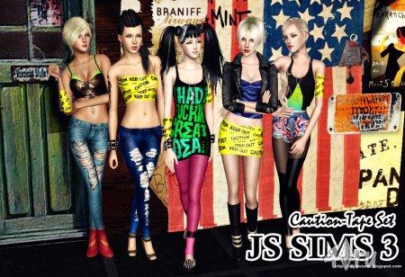 Одежда и аксессуары от JS Sims 3 для Симс 3 в формате sims3pack