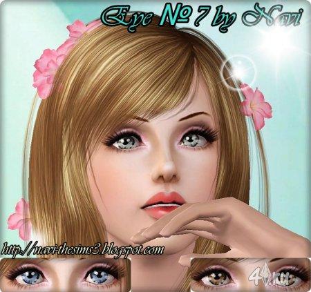 Перекрашиваемые линзы от Нави №7 для Симс 3 в формате package