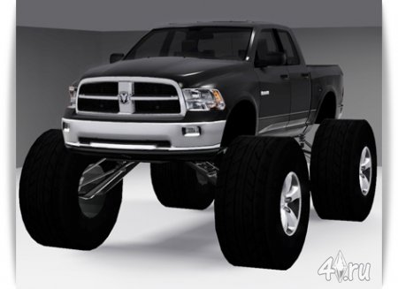 Машина Dodge Ram Monster Truck 2011 года от Fresh-Prince для Симс 3 (формат package)