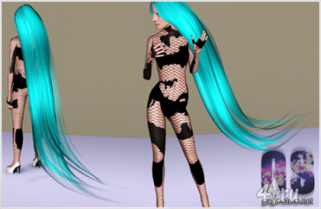 Длинные волосы от Monster David для Симс 3