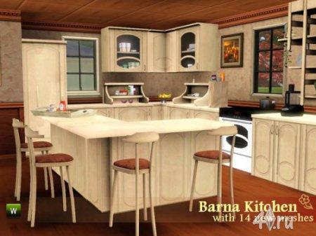 "Кухня ""Барна"" от Flovv для Симс 3 в формате sims3pack"