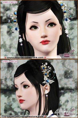 Украшение на голову в восточном стиле для Симс 3 в формате sims3pack