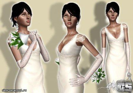 Вечерние перчатки для Симс 3 в формате sims3pack