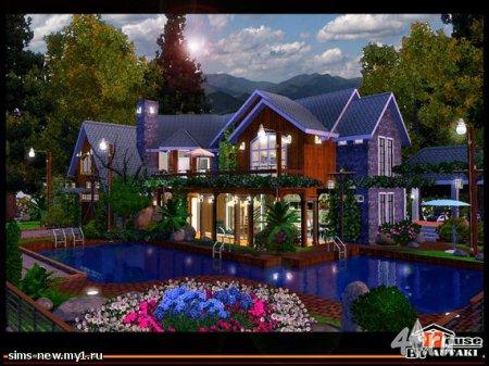 Дом у бассейна от Autaki для Симс 3 в формате sims3pack