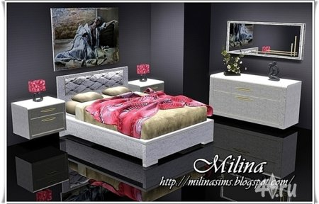Стильная современная спальня от Milina для Симс 3 в формате sims3pack