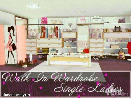 Шикарная гардеробная комната для Симс 3 в формате package