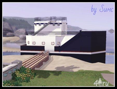 Участок с яхтой для симс 3 by Sимс