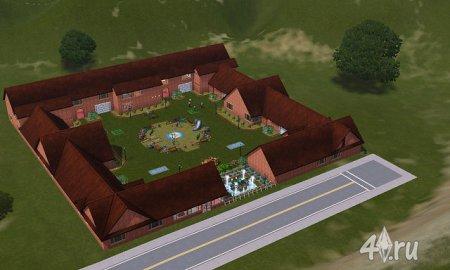 Многоквартирный дом с соседями от anaconda для симс 3