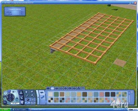 Строим дом с навесом для симс 3