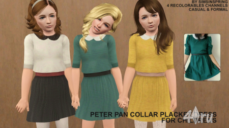 "Детское платье ""Collar Placket Dress"" от Peter Pan. Boots by Juliana  Socks by Agapi_r."