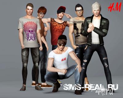 Коллекция мужской одежды от Orange Sim для Симс 3