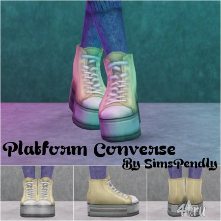 Ботинки на платформе от Sims Pendly для Симс 3 в формате sims3pack и package