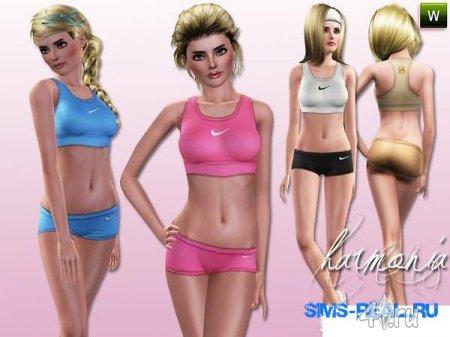 Спортивная женская одежда от Harmonia для Симс 3 в формате sims3pack