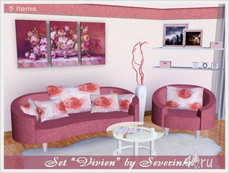 """Набор мебели """"Вивьен"""" от Severinka для Симс 3 в формате sims3pack"""