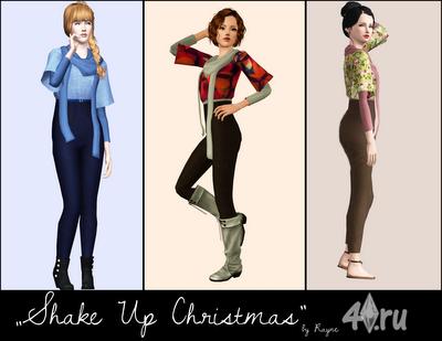 Зимний костюм Shake up Christmas от Rayne для Симс 3