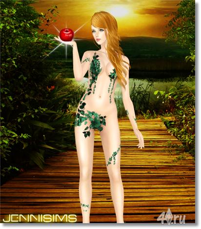 Костюм Евы от Jennifer для Симс 3 в формате sims3pack