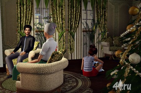 Работа на конкурс «Рождество в The Sims». Участник №1.