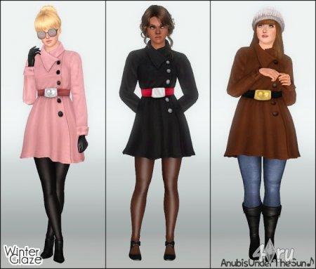 Пальто для взрослых и подростков от Anubis для Симс 3 в формате sims3pack