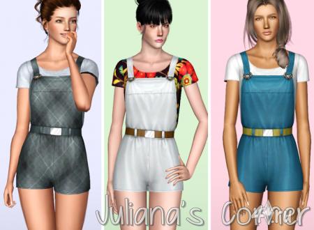Сарафан от Juliana's Corner для Симс 3 в формате sims3pack и package