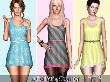 """Платье """"Мартини"""" от Juliana's Corner для Симс 3 в формате sims3pack"""