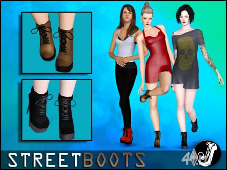 Ботинки на выход от Jocker для Симс 3 в формате sims3pack и package