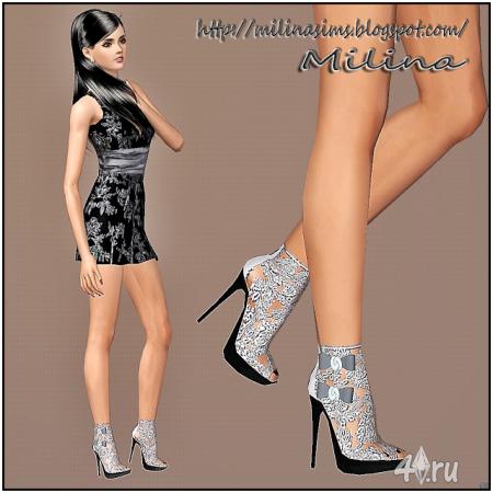 Туфли с бантиками от Milina для Симс 3 в формате sism3pack