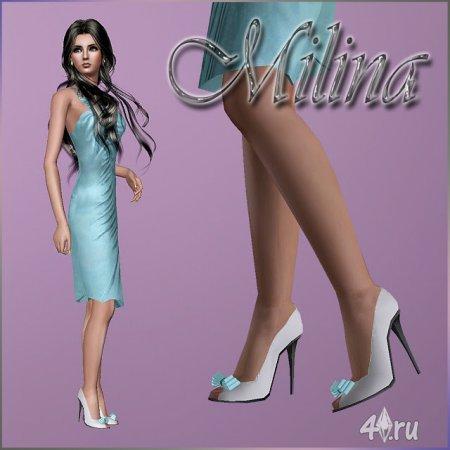 Классические туфли от Milina для Симс 3 в формате sims3pack