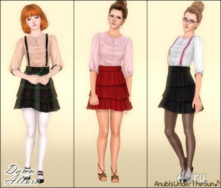 Платье для взрослых и подростков от Anubis для Симс 3 в формате sims3pack