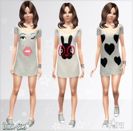 Платья для подростков от Irida-Sims для Симс 3 в формате sims3pack