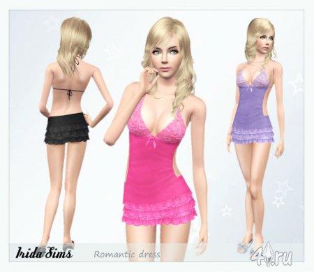 Романтическое платье от Irida-Sims для Симс 3 в формате sims3pack