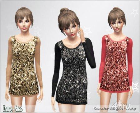 Элегантный свитер (платье) для Симс 3 в формате sims3pack
