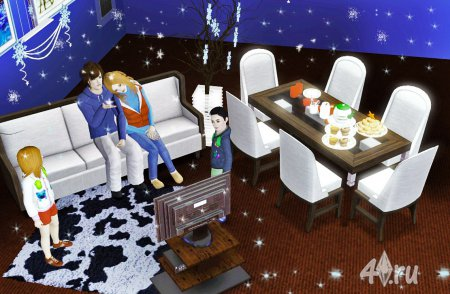 Работа на конкурс «Рождество в The Sims». Участник №3.