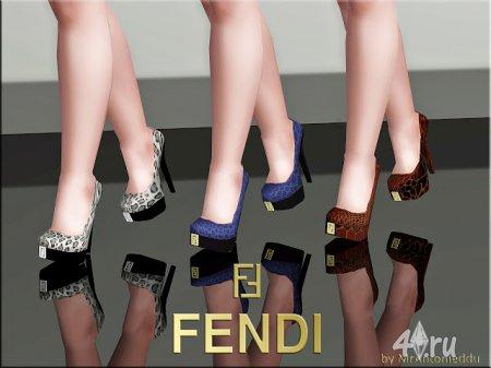 Туфли на платформе с высоким каблуком от MrAntonieddu для Симс 3 в формате sims3pack