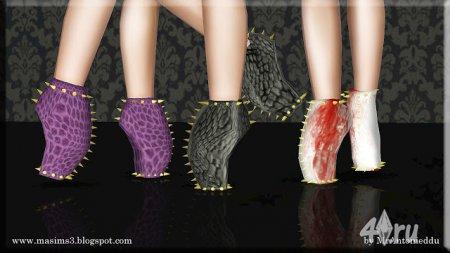 Необычные туфли с шипами от MrAntonieddu для Симс 3 в формате sims3pack