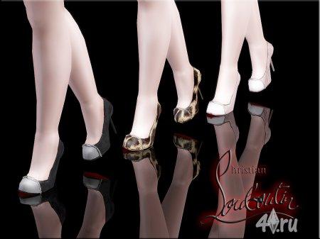 Туфли-лубутены от MrAntonieddu для Симс 3 в формате sims3pack