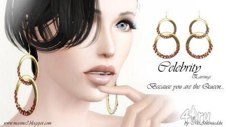 Серьги кольцо в кольцо от MrAntonieddu для Симс 3 в формате sims3pack