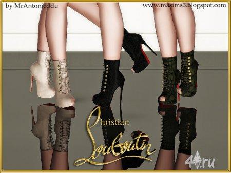 Женские сапожки на высоком каблуке от MrAntonieddu для Симс 3 в формате sims3pack