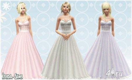 Свадебное платье от Irida-Sims для Симс 3 в формате sims3pack