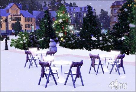 Новогодний парк от Irida-Sims для Симс 3 в формате sims3pack