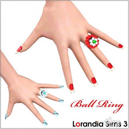 Кольцо Цветок от Lorandia для Симс 3 в формате sims3pack