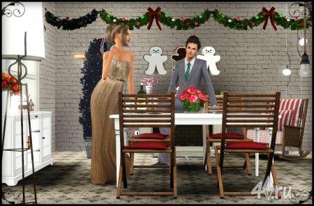 Работа на конкурс «Рождество в The Sims». Участник №2.