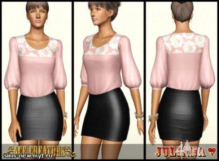 """Платье """"Перезапуск"""" от Джулии для Симс 3 в формате sims3pack"""