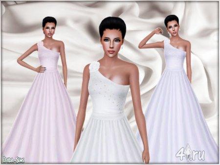 Элегантное пышное платье от Irida для Симс 3 в формате sims3pack
