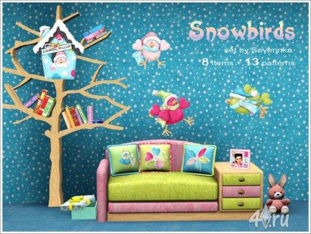 """Детская комната """"Птички и снег"""" от Severinka для Симс 3 в формате sims3pack"""