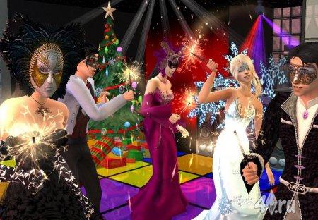 Работа на конкурс «Рождество в The Sims». Участник №6.