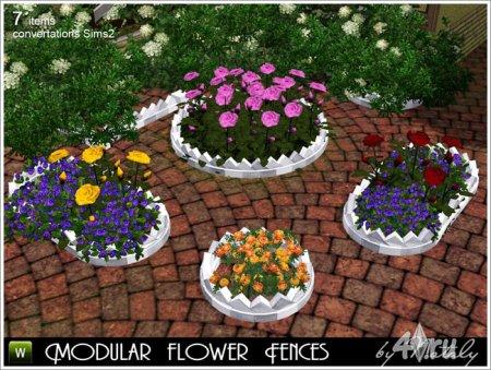 Набор из 7 модульных клумб для цветов от Nataly для Симс 3 в формате sims3p ...